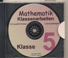 CD-ROM Mathematik-Klassenarbeiten Schwerpunkt Klasse 5 und 6 des Gymnasiums