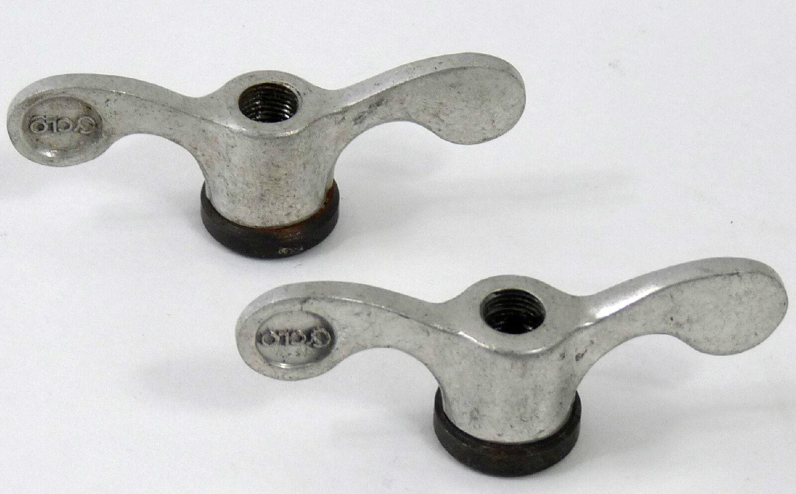 Cyclo Wingnuts Alloy Pair Of Rear Nuts Vintage Road Bike NOS