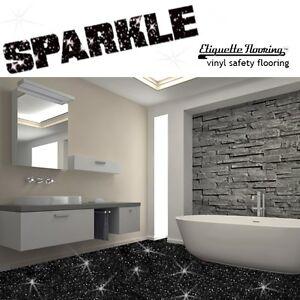 Bathroom Flooring Vinyl Lino Black