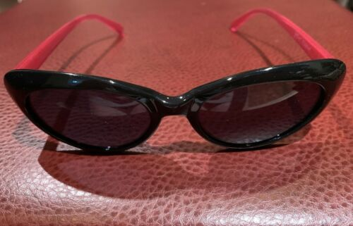 Betsey Johnson Black/Pink Cat Eye Sunglasses