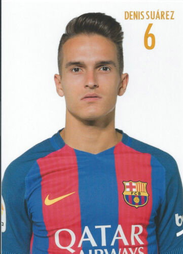 Postal postcard 6 DENIS SUAREZ jugador//player  FC BARCELONA 16//17 10,5x15 cms