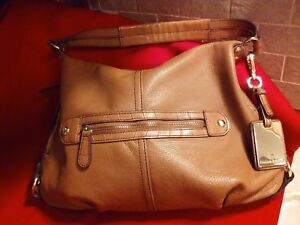 bf23921ed5 Image is loading ETIENNE-AIGNER-Camel-Color-Leather-Handbag-14-034-