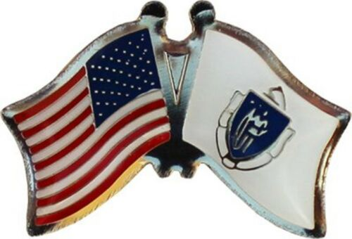 USA American Massachusetts Friendship Flag Bike Motorcycle Hat Cap lapel Pin