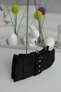 eaf2b7fff0540 Das Bild wird geladen MENBUR-Abendtasche -Clutch-Satin-Tasche-Handtasche-Schwarz-XS