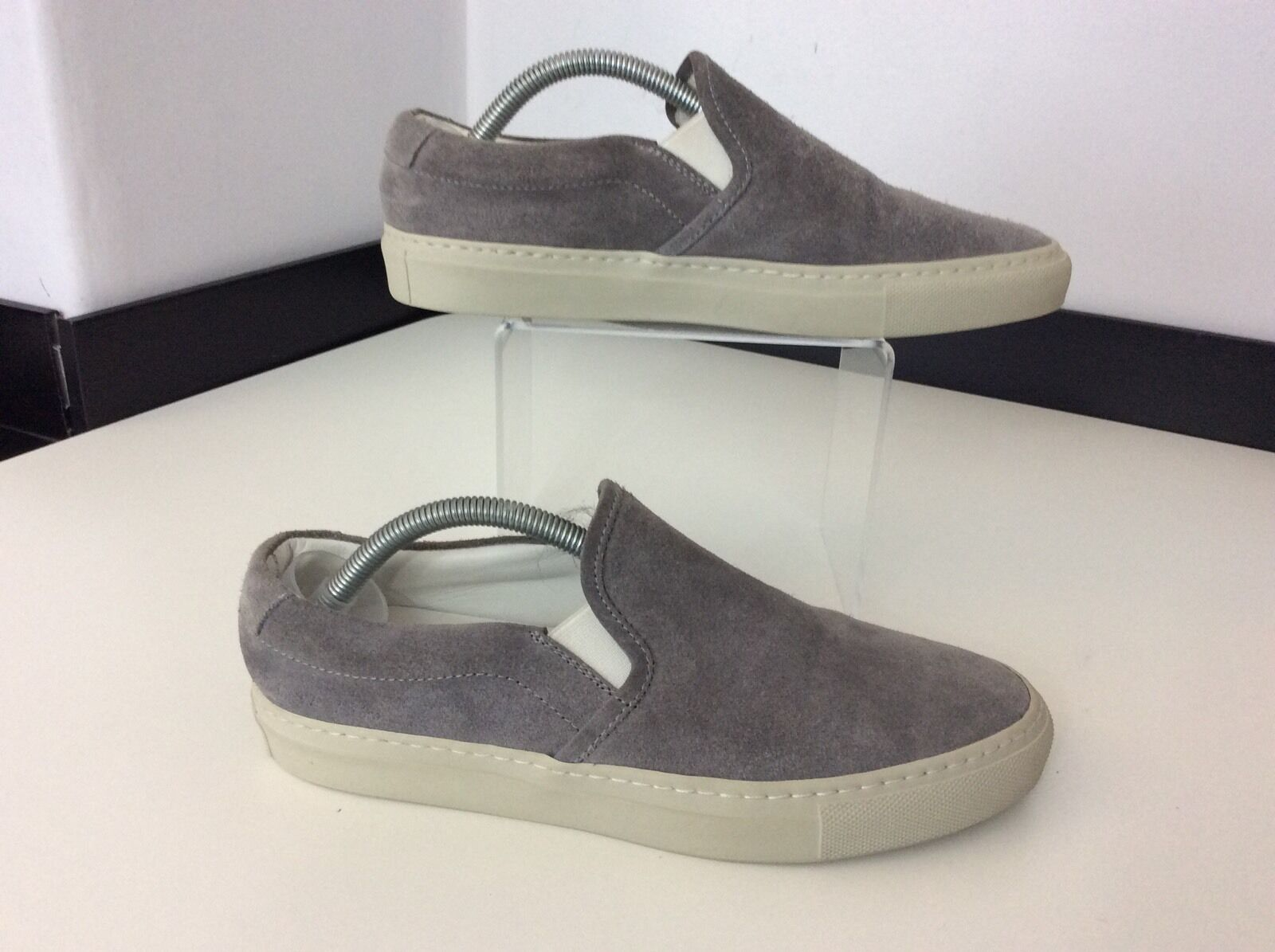 Woman Suede By Common Projects New Grau Suede Woman Loafers Schuhes Slip On Bnwob Größe 39 Uk 6 185424