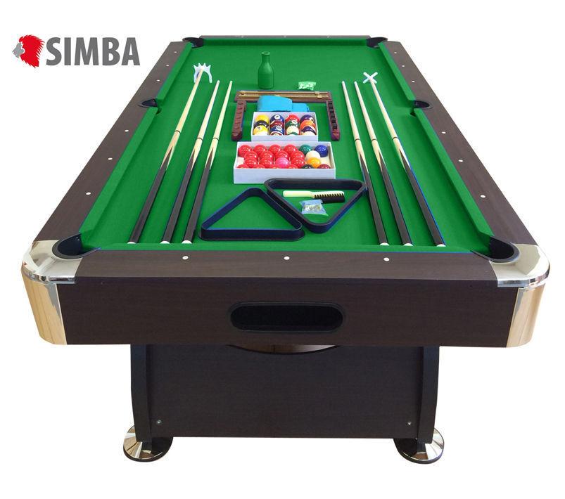 Mesa de billar juegos de billar pool 8 ft carambola Medición de 220 x 110 cm