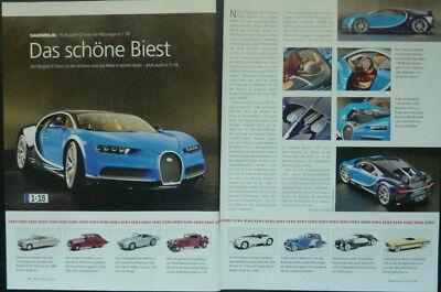 ' 16 Bugatti Chiron In 1-18 Di Bburago... Un Modello Relazione #2016-n Modellbericht #2016 It-it Mostra Il Titolo Originale