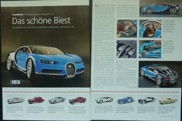' 16 Bugatti Chiron In 1-18 Di Bburago... Un Modello Relazione #2016-n Modellbericht #2016 Rinvigorire Efficacemente La Salute