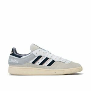 Hommes-Adidas-Originals-Handball-Top-Lace-Up-Amorti-Baskets-en-Blanc