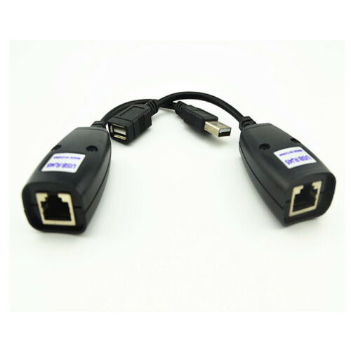 USB Extension Ethernet RJ45 Cat5e//6 Cable LAN Adapter Extender Over Repeater RF
