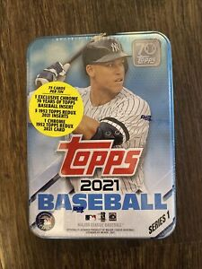 New/Sealed 2021 Topps Series 1 Baseball Collector's Tin' Aaron Judge