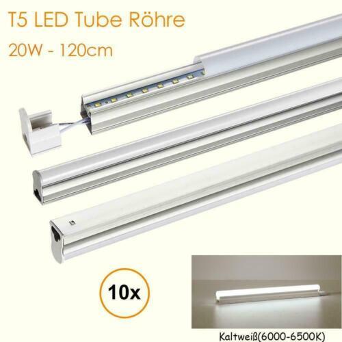10X 20W 120cm T5 LED Tube Röhre Leuchtstoffröhre Rohr Deckenleuchte Kaltweiß
