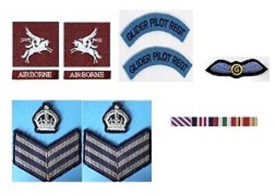 Échelle 1//6 WW2 British Airborne CSRC Medic patch lot