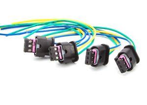 4x-Sensor-de-Aparcamiento-Marcha-Atras-PDC-Cable-Enchufe-de-alambre-arnes-de-reparacion-BMW-a-2008