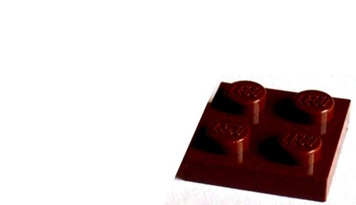 LEGO 20 Pieces Plate 2x2 Reddish Brown 3022 New Panel Plate Plates Basics
