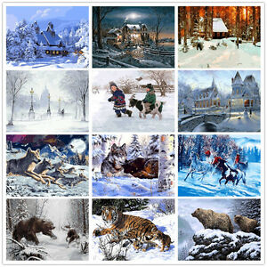 Image Is Loading 16X20 034 WINTER PAINT BY NUMBER KIT DIY
