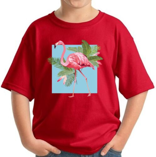 Punk Flamingo Tshirt Floral Flamingo Shirt for Kids Flamingo Summer Youth Shirts
