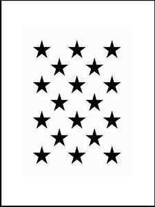 Das Bild Wird Geladen Muster Schablone Sterne Fuer Hintergruende Auf Wand  Moebel