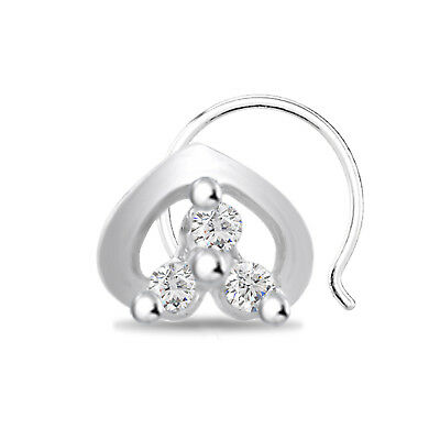 Sterling Silver CZ Stones Triple Heart Ladies Ring