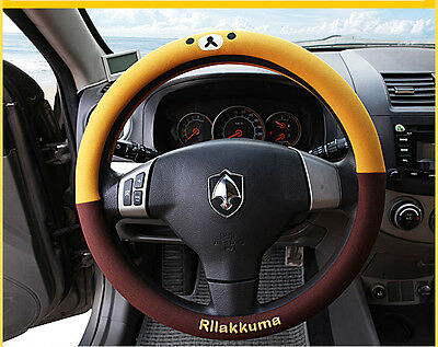 HOT!  San-X  Lovely Rilakkuma Auto Car Steering Wheel Cover Protector Holder