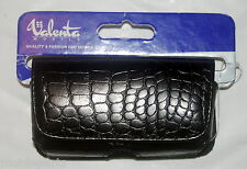 Valenta Mobile Black Leather Crocodile Skin Case for Sony Ericsson W580i W995i