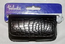 Valenta Mobile Black Leather Crocodile Skin Case for Sony Ericsson W880i & W890i