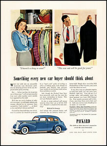 1939 Packard Car new car buyers wife husband clothing vintage art print ad S7