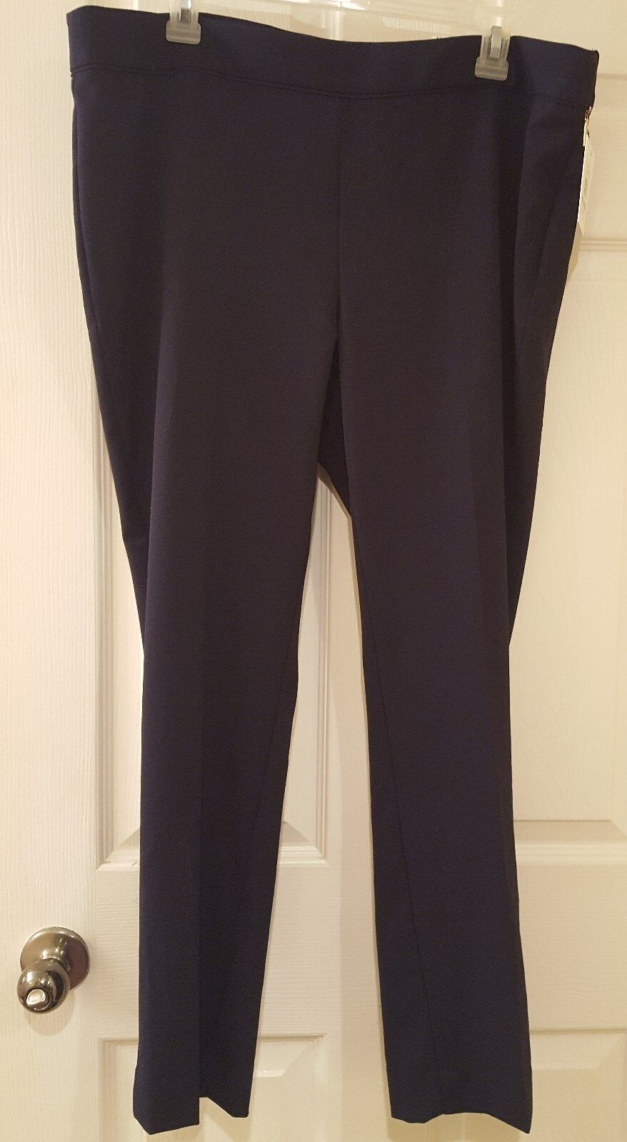 Pants by Ellen Tracy Modern Slim ankle pants SZ 14 MSRP  79.50 NWT  bluee color
