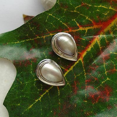 Perle, weiß edel elegant modern Ohrringe, Ohrstecker, 925 Sterling Silber neu