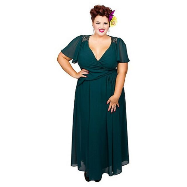 4c2ba7a9f2e Scarlett   Jo Green Embroidered Plus Size Dress Size UK 16 RRP £80 Box47 27
