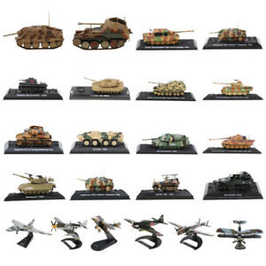 Army-1-72-1-144-WWII-Military-US-UK-German-Tank-Bomber-Diecast-Model-Toy-Display