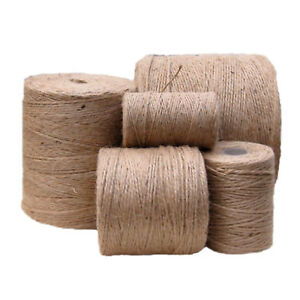 100m-1000m 3 Ply Natural Brown Soft JUTE TWINE Sisal String Rustic Cord Shabby