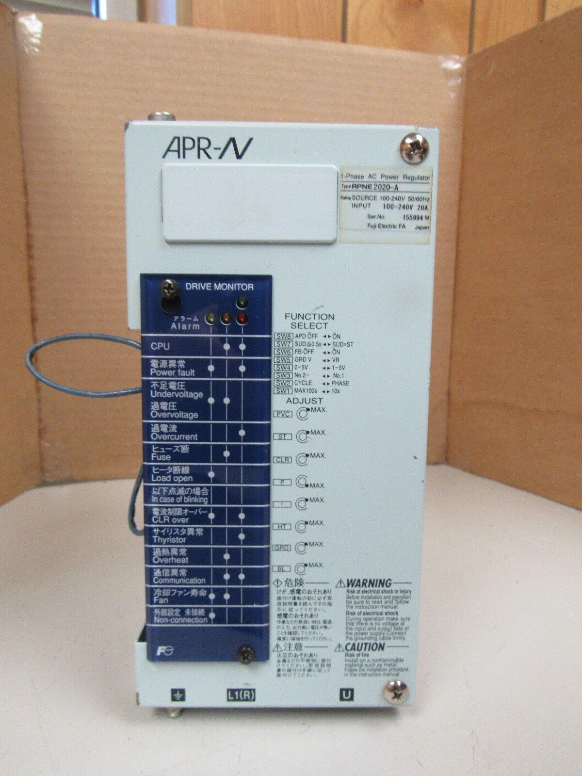 best regulators 2020 Fuji AC Power Regulator Rpne 2020 a RPNE2020A Ser Apr n 1ph 240v