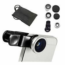 3 in1 Clip Lens Kit (Fish Eye ,Macro & Wide Angle) For Mobile Camera -Silver