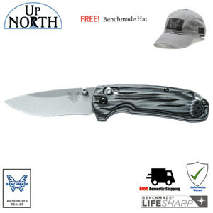 BENCHMADE-HUNT-15031-1-North-Fork-Folding-Knife-G10-Handle-FREE-HAT