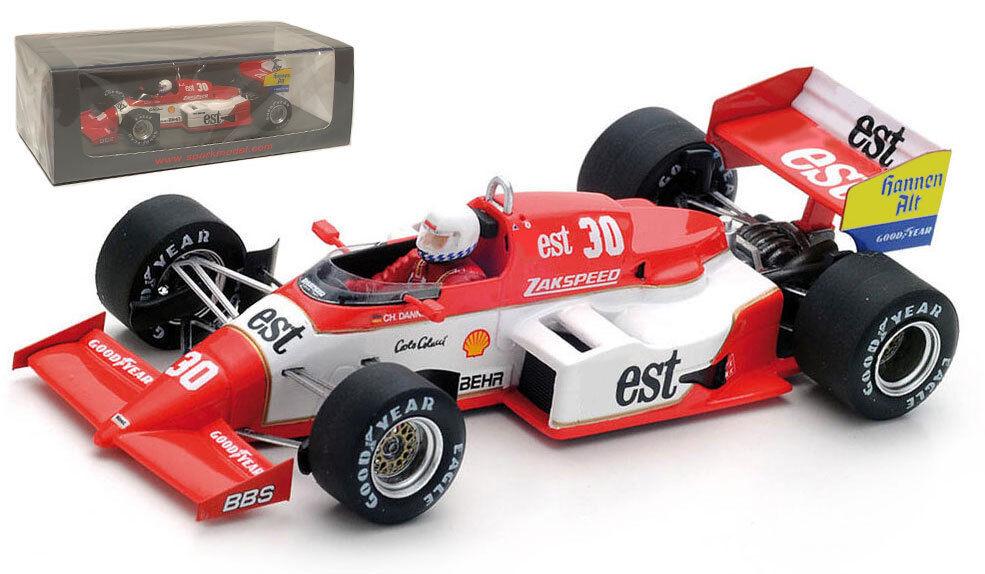 SPARK S1872 ZAKSPEED 841  30 BELGIAN GP 1985-Christian Danner échelle 1 43