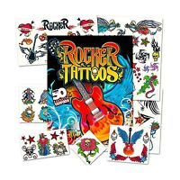 Rock Star Temporary Tattoos Party Favor Set (50 Rocker Tattoos) Free Shipping
