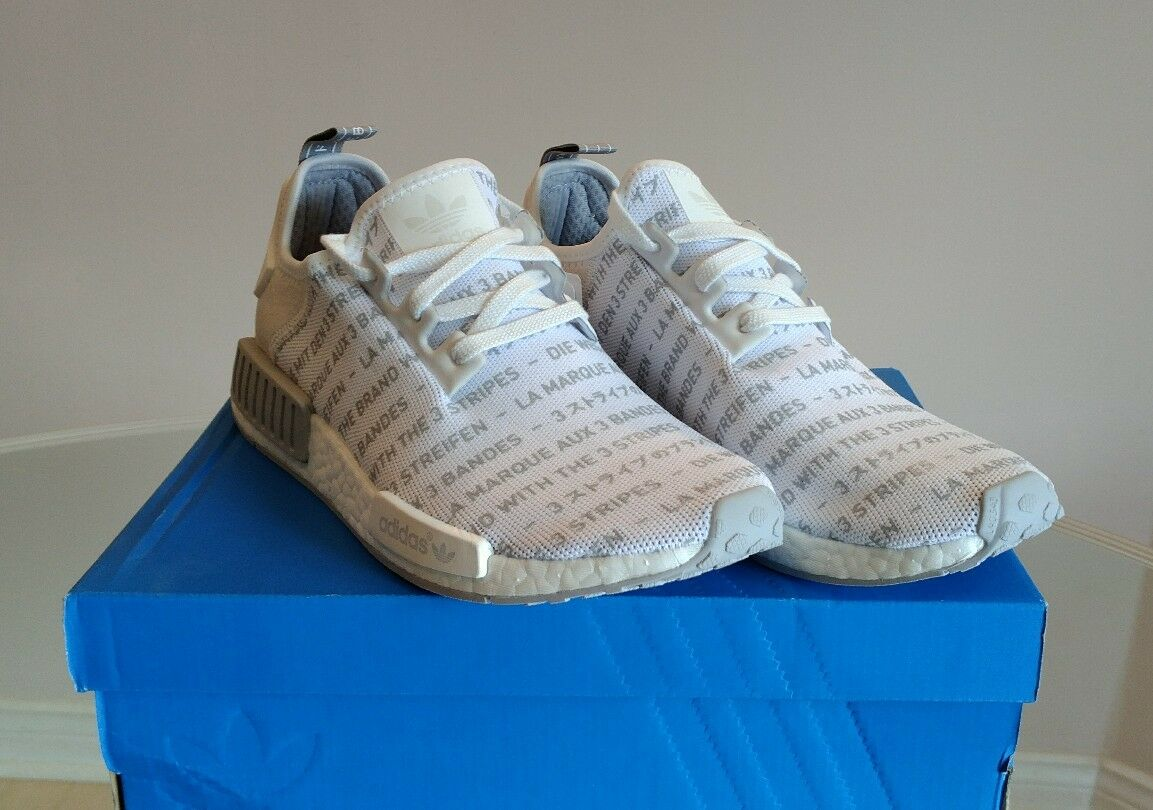 Adidas NMD R1  Whiteout   Brand With The Three Stripes  S76518 Size 9.5