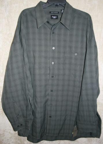 Haggar long sleeve Casual shirt button front Microfiber Pocket mens soft Plaid