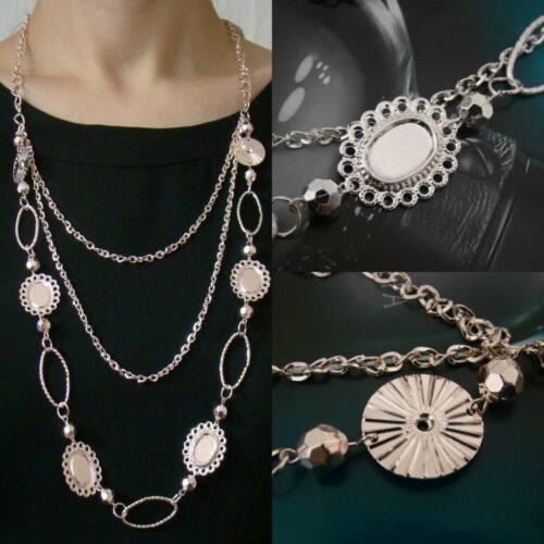 XXL Lang Kette Modekette Damen Bettelkette Halskette Hell Gold 5