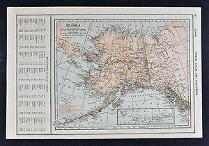 1917 poates map alaska gold mines placers yukon fairbanks juneau image is loading 1917 poates map alaska gold mines amp placers gumiabroncs Gallery