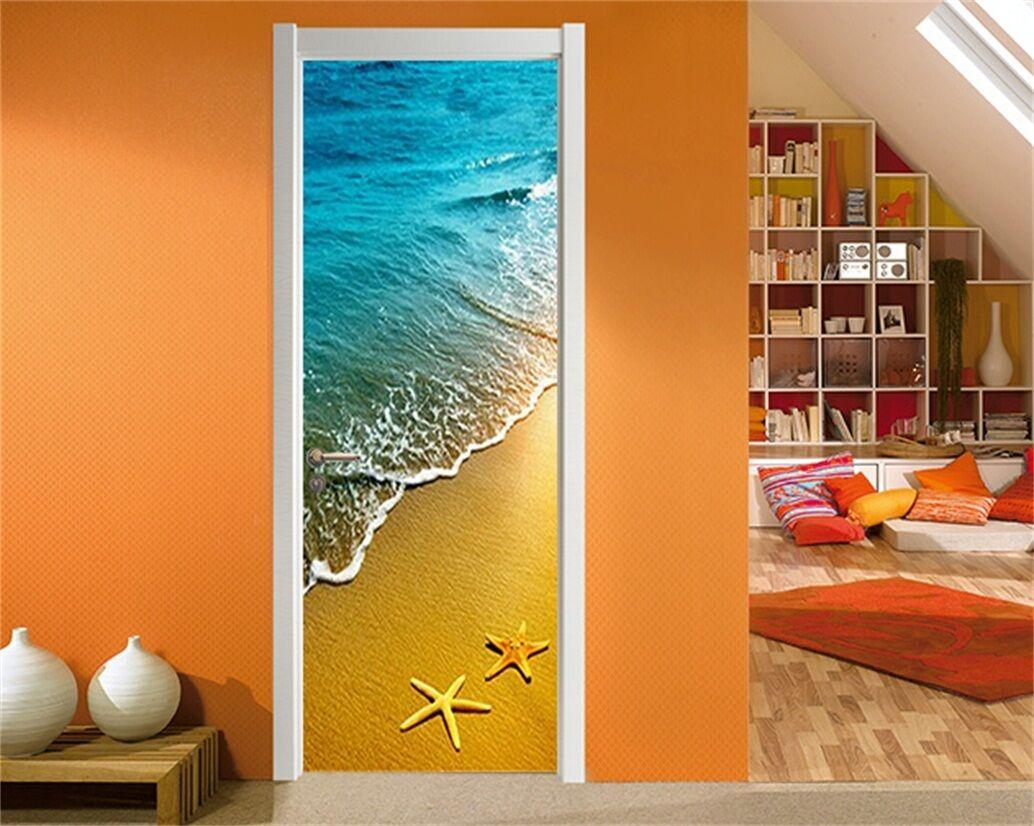 3D Strand 75 Tür Wandmalerei Wandaufkleber Aufkleber AJ WALLPAPER DE Kyra   Die erste Reihe von umfassenden Spezifikationen für Kunden    Großhandel    Sale Deutschland