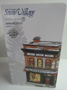 Dept-56-Snow-Village-Rockwell-039-s-5-amp-10-Lit-Building-6000637-Torn-Box