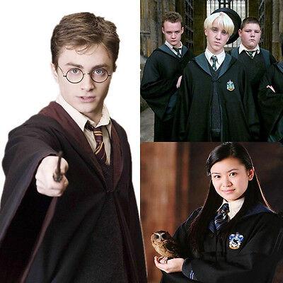 Harry Potter Adult Robe Cloak Cape Gryffindor/Slytherin/Ravenclaw Halloween Gift