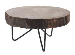 Credenza Con Tagliere : Dekobrett legno disco tagliere di albero tronco vassoio con piedi Ø