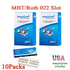 Dental Orthodontic Brackets Mini Metal Mbtroth Solt 022 Braces 3345hooks 10pks