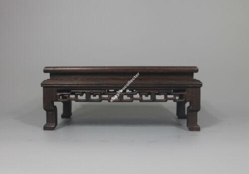 "Chinese wooden stand display brown Ji-chi hard wood Rectangle base 7.2*3.4*3.2/"""
