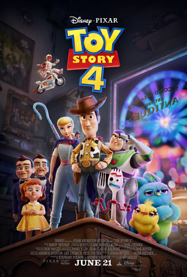 Details about  /Toy Story 4 Movie Josh Cooley Art Animated Wall 21 24x36in Fabric Poster N2188