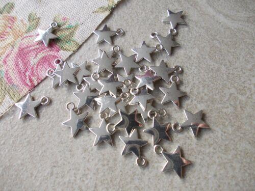 STARS,Silver Tibetan Metal Charms,Pendant,Star Jewellery Making,Chose style