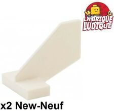 Lego - 2x Tail aileron avion Shuttle bateau boat small blanc/white 44661 NEUF
